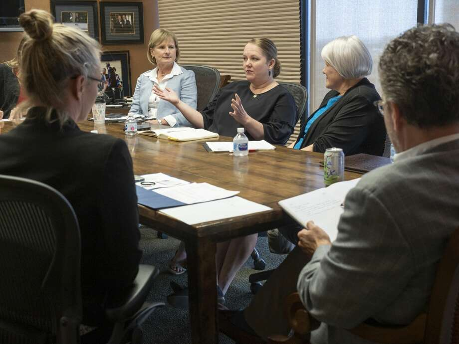 Bethany Solis, with IDEA Public Schools, speaks July 9, 2019, with area foundation leaders and Permian Strategic Partnership about opening seven new charter schools in the Midland and Odessa area by 2025. IDEA Travis in Midland is set to begin the 2020-21 academic year on Aug.11. Photo: Tim Fischer/Midland Reporter-Telegram