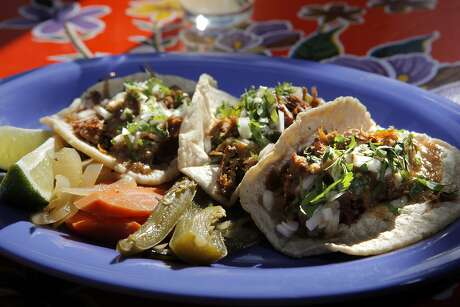 The carnitas tacos served at Mijita in San Francisco, Calif., on Wednesday, May 12, 2010. Public House and Mijita are two restaurants by Tracy Des Jardins carved out of what was once Acme Chophouse. Food at Public House: Iceberg wedge Spiced lamb sliders Thom's Cheesesteak Sandwich Fish and Chips. At Majita: Meatball soup Carnitas (or other taco)