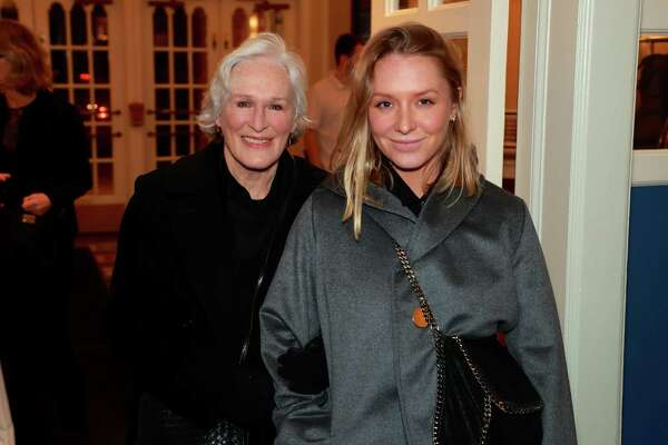 Oscar-nominated actress Glenn Close, a Greenwich native and Bedford resident, with her daughter Annie Starke at the Bedford Playhouse, where she was recently honored.