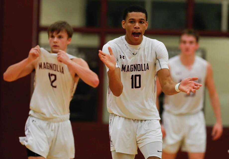 Magnolia point guard Jordan Ratliff (10) yells as he gets on defense during the third quarter of a District 19-5A high school basketball game at Magnolia High School, Friday, Jan. 3, 2019, in Magnolia. Photo: Jason Fochtman, Houston Chronicle / Staff Photographer / Houston Chronicle © 2020