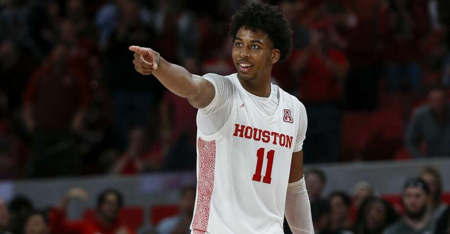 Houston Cougars guard Nate Hinton (11) celebrates after dunking the ball against the UCF Knights during the second half of an NCAA game at the Fertitta Center Friday, Jan. 3, 2020, in Houston. The Cougars won 78-63. Photo: Godofredo A Vásquez/Staff Photographer