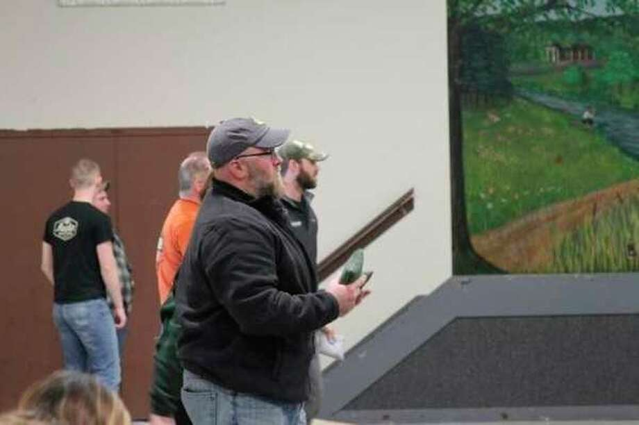 The Manistee Moose Lodge will host their annual Charity Cornhole Tournament Jan. 11 at Stronach Township Hall. Twenty-four teams competed inlast year's tournament. (News Advocate file photo)
