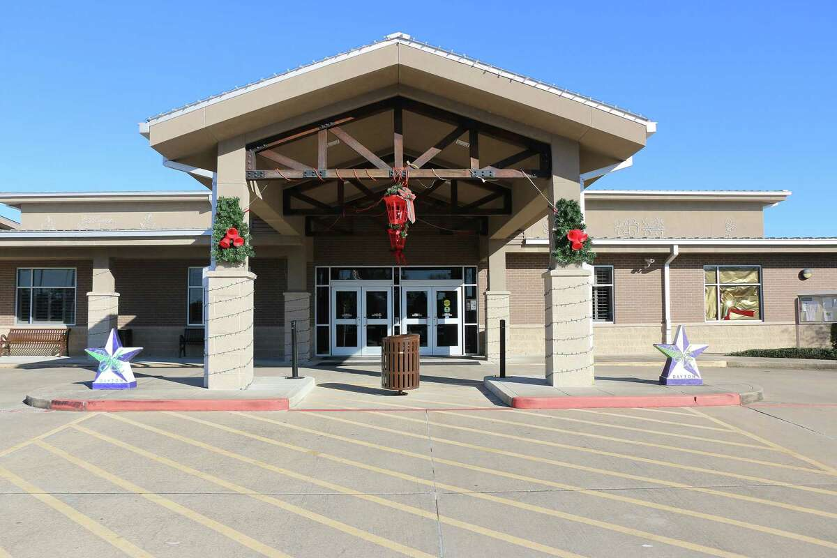 The outside of the Dayton Community Center was dressed up for the Christmas season.