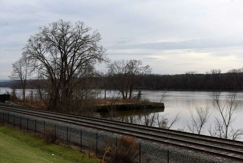 An undeveloped village park next to the Hudson River is inaccessible because of high speed Amtrak lines running between village streets and the river on Friday, Jan. 3, 2020, in Castleton-on-Hudson, N.Y. (Will Waldron/Times Union)