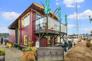 Artistic and fun, this Westlake floating home asks $750K
