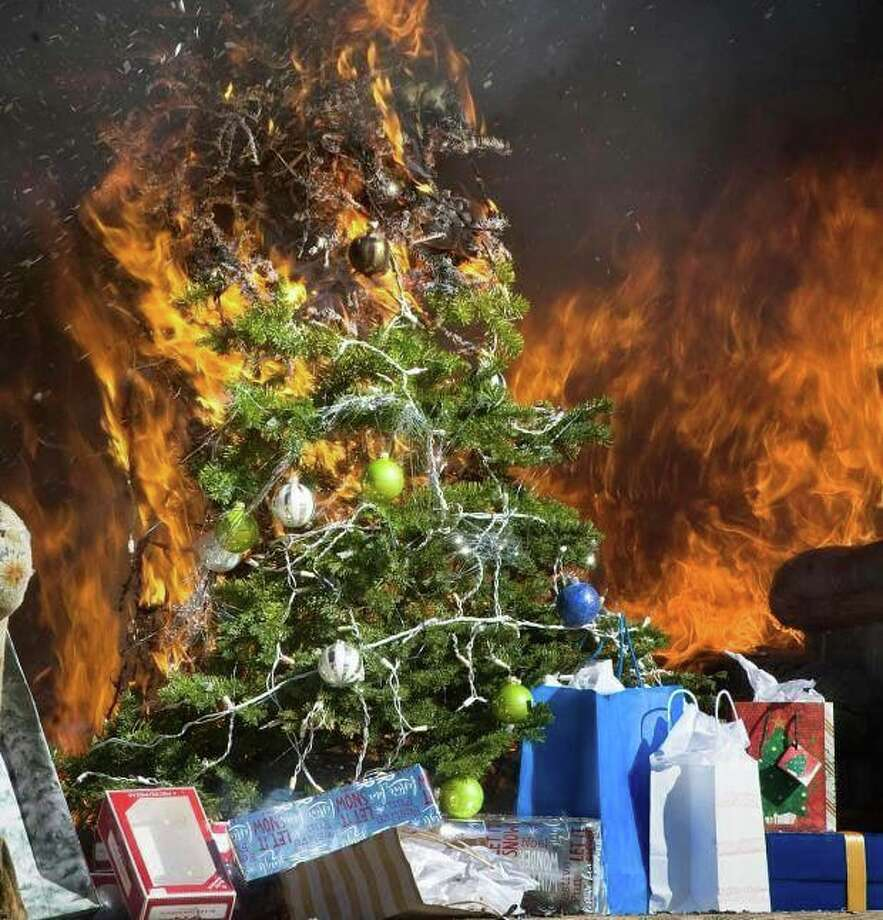 Westport, Conn., fire officials are urging residents who still have Christmas trees in their homes to get rid of them. Photo: Contributed Photo / Westport Fire Department