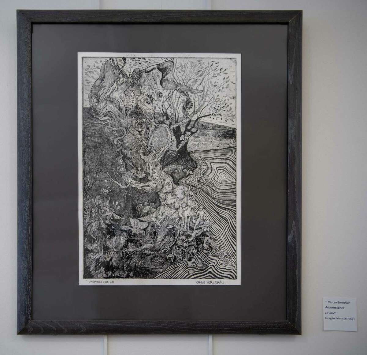 This work by Vartan D. Bonjukian is titled Aborescence. (Sacandaga Valley Arts Network)