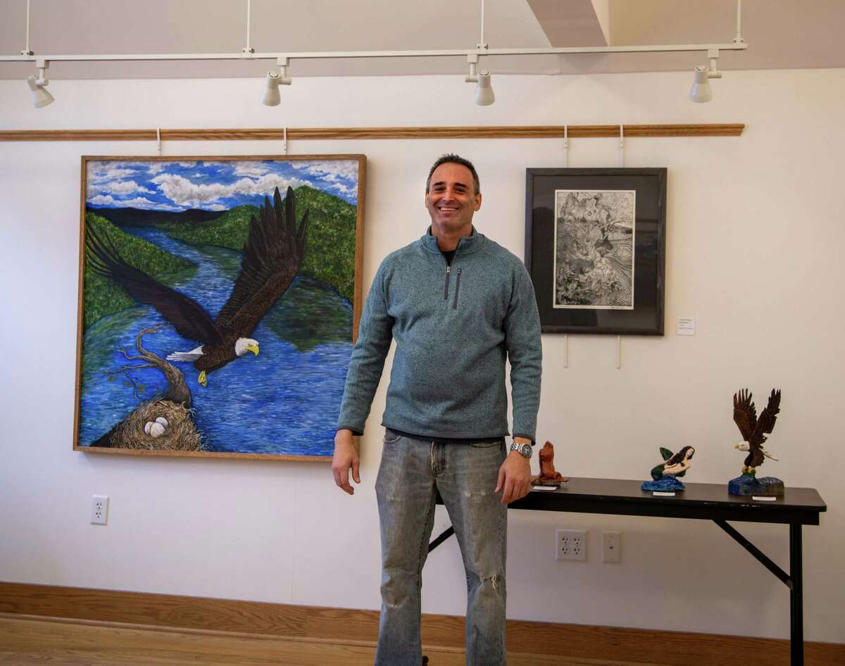 Vartan D. Bonjukian, seen at the Northville Library. (Sacandaga Valley Arts Network)