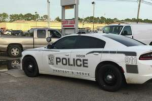 Vidor police investigate at the scene where a body was located Tuesday. Photo provided by Eric Williams