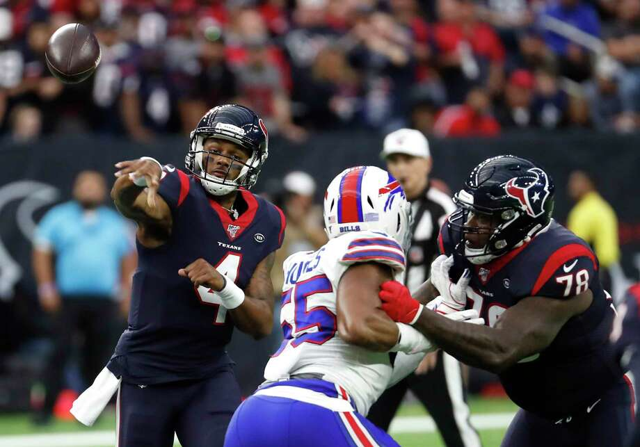Houston Texans quarterback Deshaun Watson (4) throws a pass against the Buffalo Bills during an AFC wild card playoff game at NRG Stadium on Saturday, Jan. 4, 2020, in Houston. Photo: Brett Coomer, Staff Photographer / © 2020 Houston Chronicle