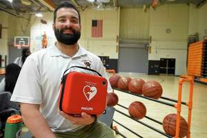 Stamford High School athletic trainer Jordan Napolitano, along with Stamford Athletic Director Chris Passamano were instrumental in resuscitating a referee with an AED (Automated External Defibrillator) after they collapsed during a girls basketball game at the school.
