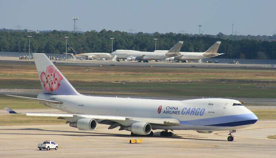 A China Airlines Cargo Boeing 747 taxis at Bush Intercontinental Airport. Photo: Bill Montgomery / Hearst Newspapers 2017