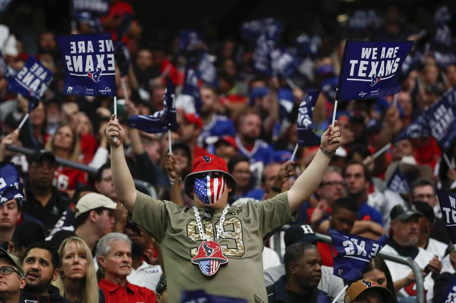 PHOTOS: Our 10 favorite cardboard cutouts as Astros games this season Houston Texans fans cheer during an AFC wild card playoff game against the Buffalo Bills at NRG Stadium on Saturday, Jan. 4, 2020, in Houston. Photo: Brett Coomer/Staff Photographer