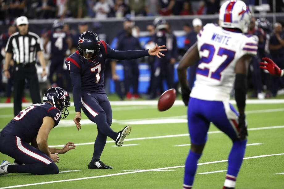 PHOTOS: Each Texans player's current contract situation Houston Texans kicker Ka'imi Fairbairn (7) kicks a 41-yard field goal against the Buffalo Bills during the fourth quarter of an AFC wild card playoff game at NRG Stadium on Saturday, Jan. 4, 2020, in Houston. Photo: Brett Coomer/Staff Photographer