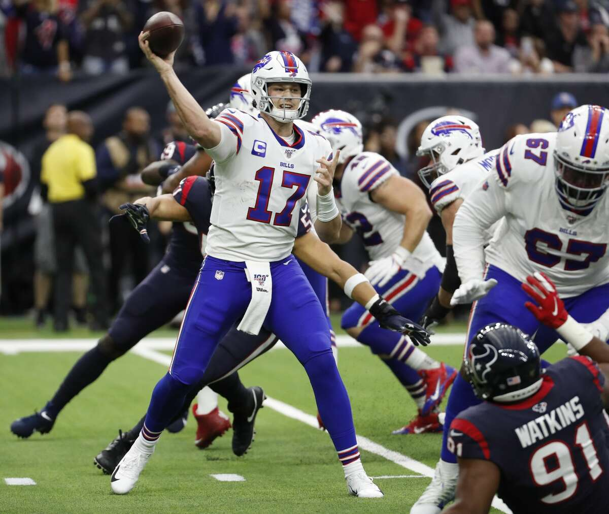 Josh Allen and the Bills will face the Texans for the first time since the teams' 2019 AFC wild-card game at NRG Stadium that Houston won in overtime.