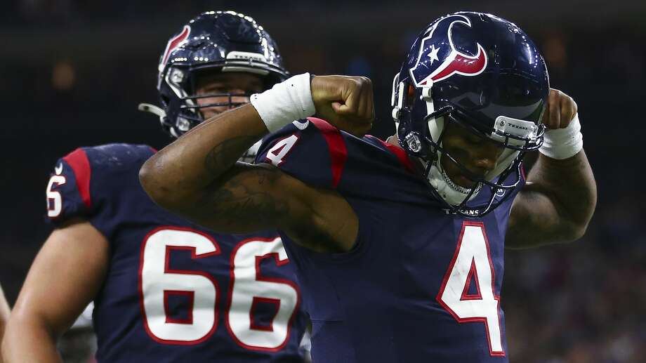 PHOTOS: John McClain's 2019 divisional round predictions Houston Texans quarterback Deshaun Watson (4) celebrates after scoring a 20-yard rushing touchdown against the Buffalo Bills during the third quarter of an AFC Wild Card playoff game at NRG Stadium Saturday, Jan. 4, 2020, in Houston. >>>See The General's picks for this week's playoff matchups ...  Photo: Godofredo A Vásquez/Staff Photographer