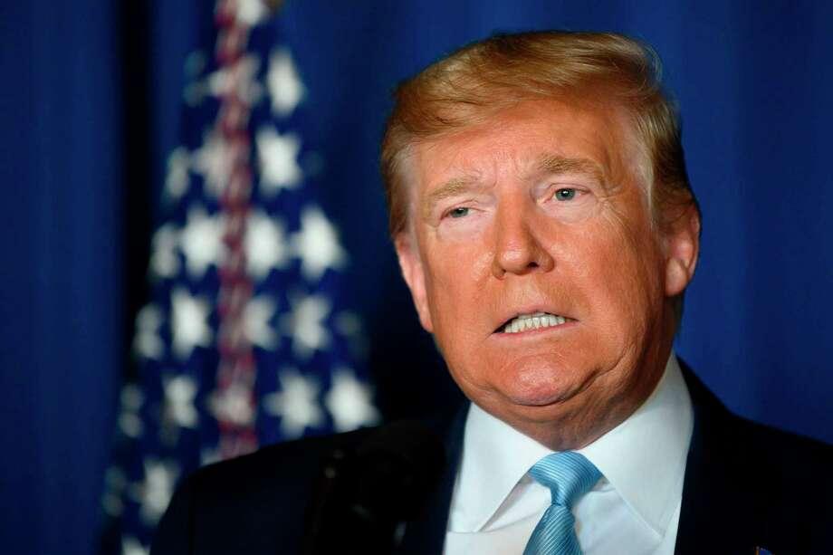 En esta fotografía del 3 de enero de 2020, el Presidente Donald Trump hace una declaración sobre Irán en Mar-a-lago en Palm Beach, Florida. Photo: Jim Watson /AFP Via Getty Images / AFP or licensors