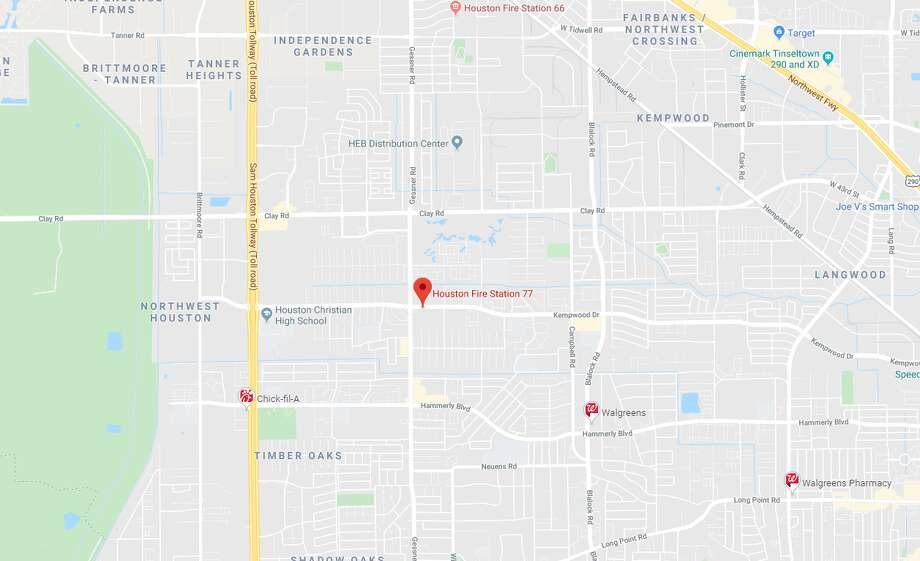 A baby died Sunday morning after being dropped off at a Houston fire station in northwest Houston, according to officials and multiple media reports. Photo: Google Maps
