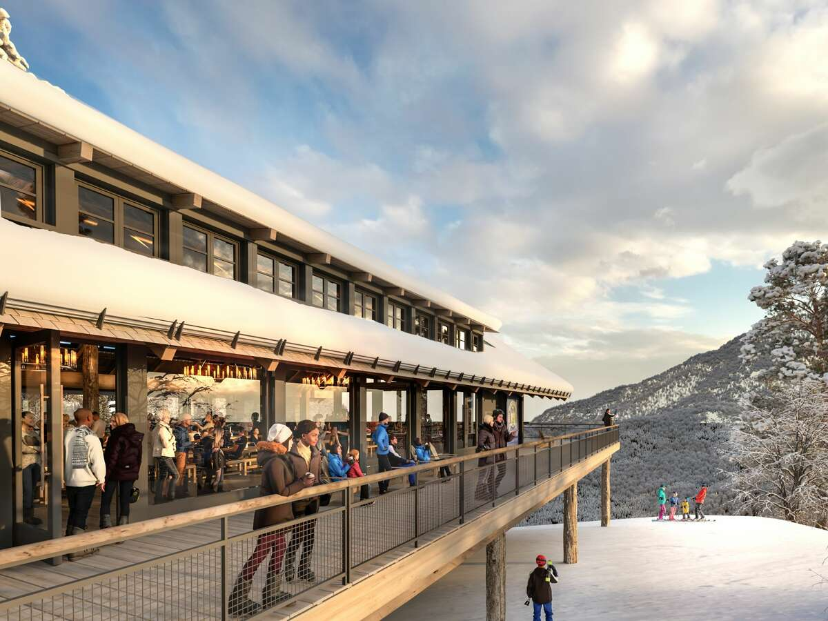 An early artist's rendering of what the new mid-station lodge at Whiteface Mountain might look like.