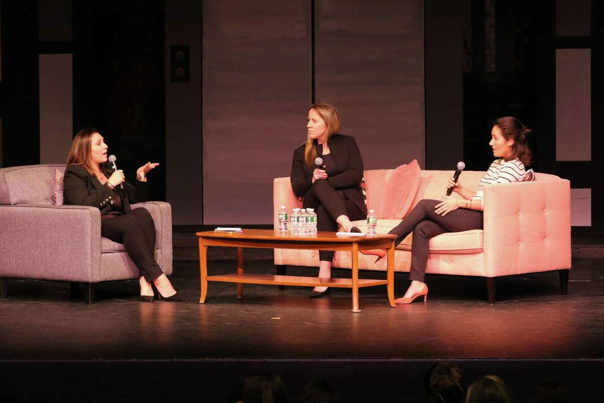 Greenwich Academy welcomed back alumnae Hagar Chemali and Elena Gonzalez and welcomed for the first time Olympian hockey player Meghan Duggan, who spoke about their careers and stories working for visibility in areas traditionally occupied by men.