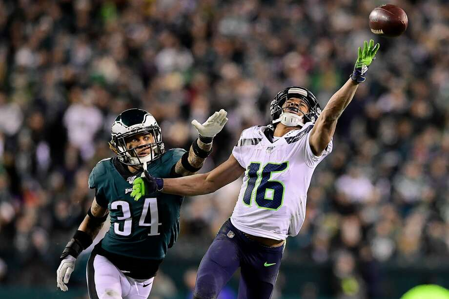 Seahawks wide receiver Tyler Lockett in 2019 ranked second among all receivers in catch percentage above expectation, trailing only Saints All-Pro Michael Thomas, according to Next Gen Stats. The metric essentially tracks a player's ability to make difficult receptions. Photo: Steven Ryan, Getty Images