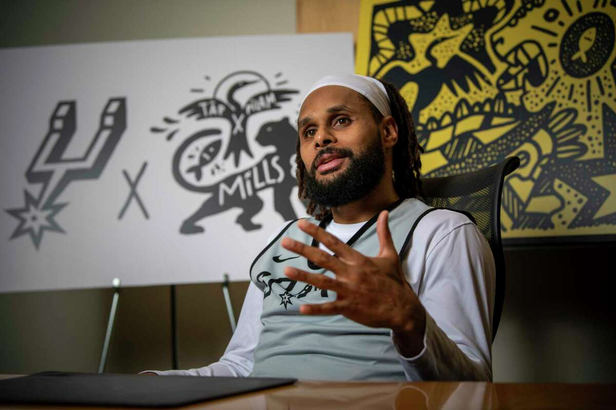 Clothing that Spurs guard Patty Mills has helped create offers a design with ancient Indian imagery and contemporary street art.