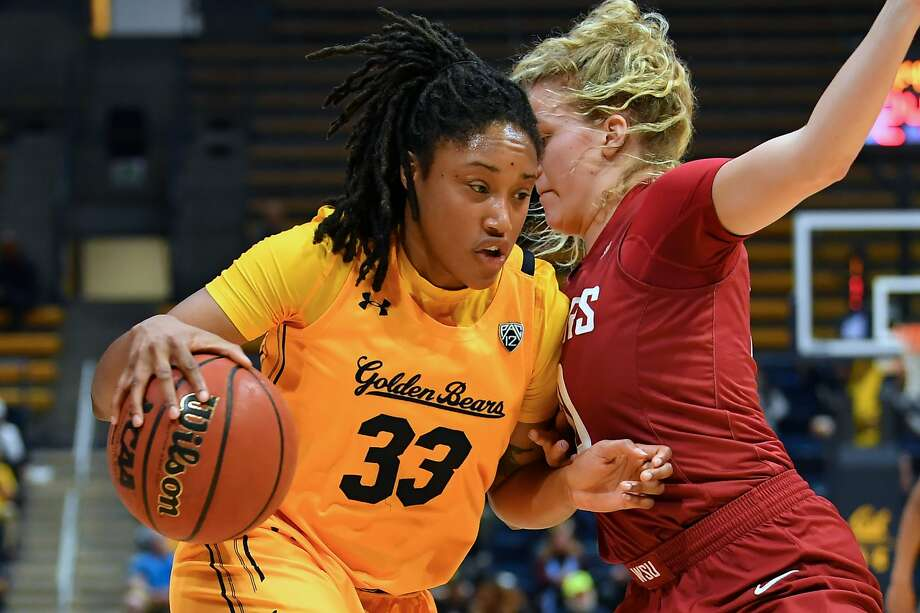 Cal's Jaelyn Brown drives to the basket during Sunday's game against Washington State in Berkeley on Jan. 5, 2020. Photo: Rob Edwards/KLC Fotos