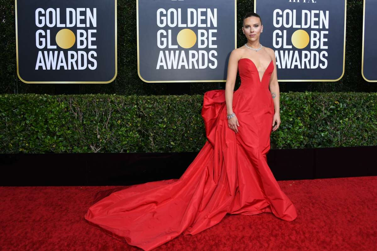 Stars hit the red carpet in dramatic dresses, bold colors and shimmering rhinestones and sequins. See all the night's looks here. Pictured: US actress Scarlett Johansson arrives for the 77th annual Golden Globe Awards on January 5, 2020, at The Beverly Hilton hotel in Beverly Hills, California.