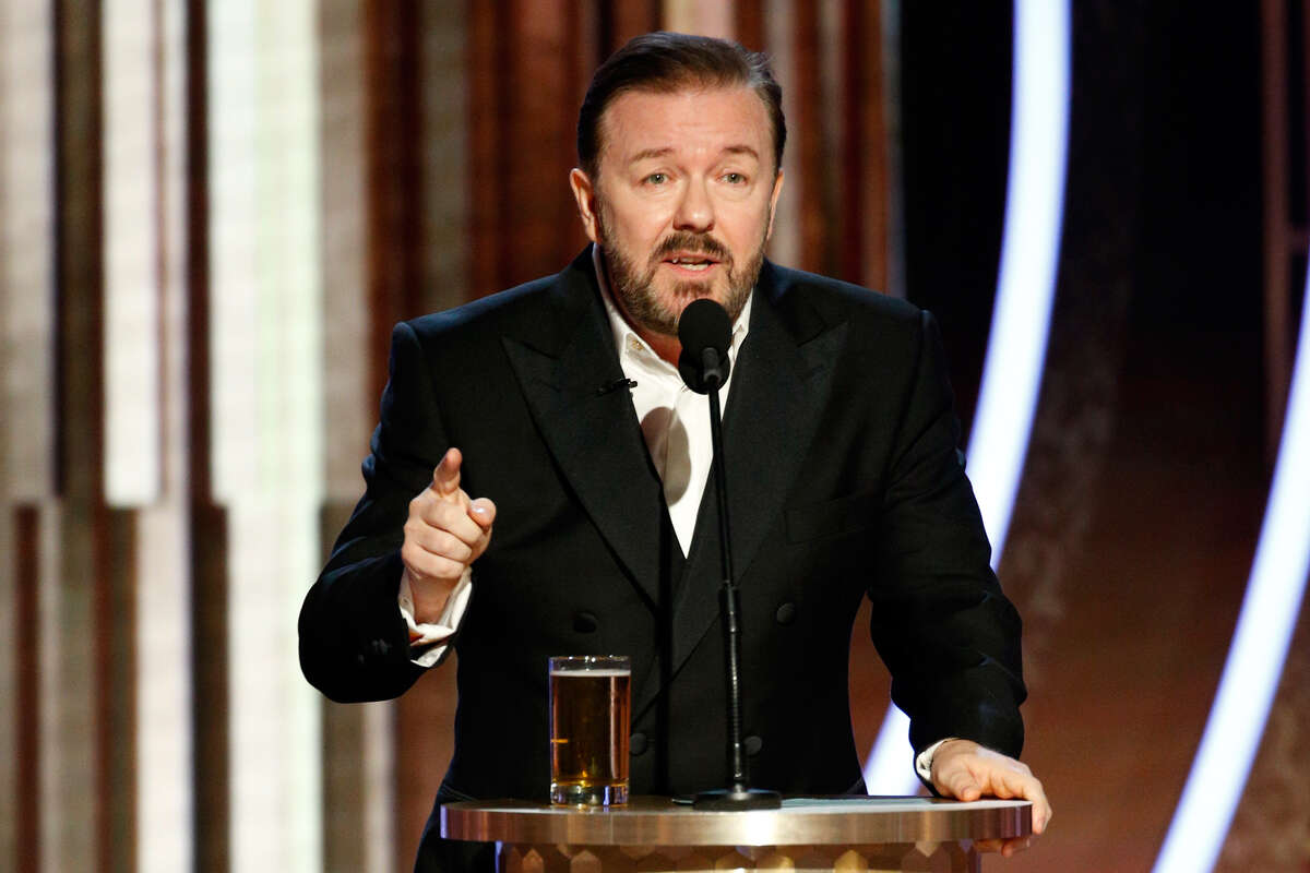 Host Ricky Gervais called out Apple, Amazon, and Disney,