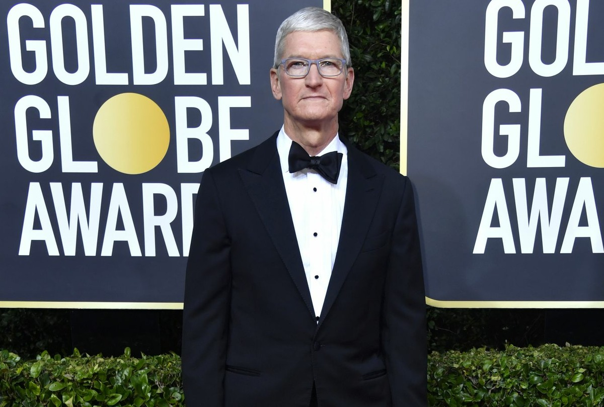 Tim Cook attends the 77th Annual Golden Globe Awards at The Beverly Hilton Hotel on Jan. 5, 2020 in Beverly Hills, Calif.