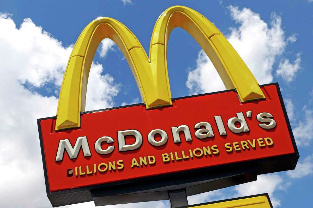 FILE - An employee of the McDonald's on Black Rock Turnpike in Fairfield found a bag containing a pellet gun in the store on Jan. 4, 2020. (AP Photo/Gene J. Puskar, File)