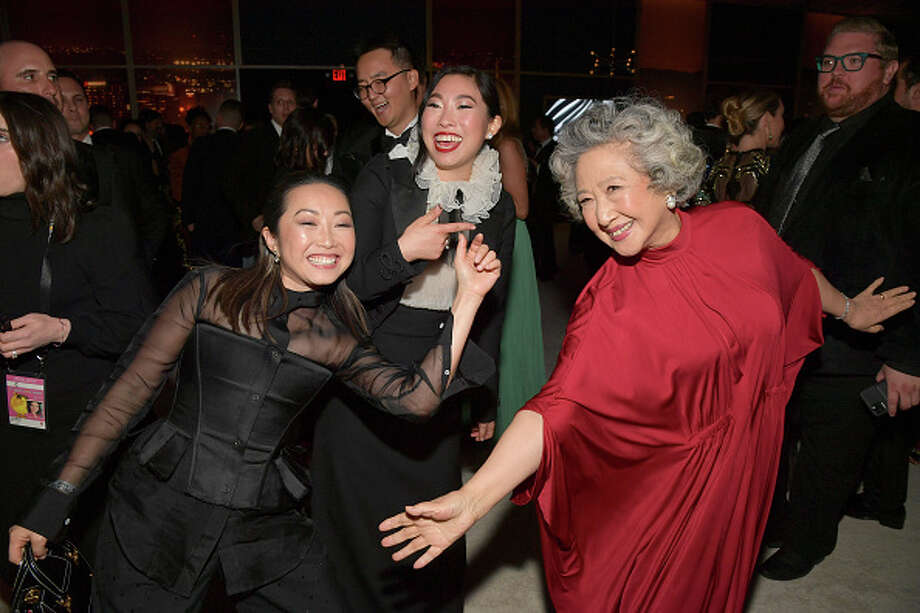 Diana Lin, Awkwafina and Zhao Shuzhen attend The 2020 InStyle And Warner Bros. 77th Annual Golden Globe Awards Post-Party at The Beverly Hilton Hotel on January 05, 2020 in Beverly Hills, California. (Photo by Lester Cohen/Getty Images for InStyle) Photo: Lester Cohen/Getty Images For InStyle / 2020 Lester Cohen