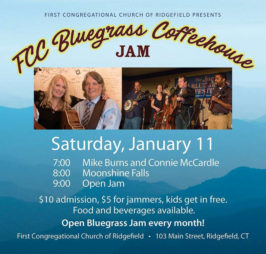 The FCC Bluegrass Coffeehouse and Open Jam, a family-friendly event, featuring Moonshine Falls and the Mike Burns and Connie McCardle Duet will be held Jan. 11, from 7-10 p.m., at the First Congregational Church of Ridgefield. Photo: Contributed Photo