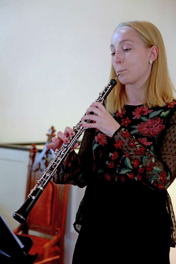 Kate Wegener, a sophomore at Julliard School, performed at The Wednesday Afternoon Musical Club's Scholarship Winner & Young Artists Concert at Jesse Lee United Methodist Church on Sunday, Jan. 5, 2020, in Easton, Conn. Photo: Jarret Liotta / Jarret Liotta / ©Jarret Liotta