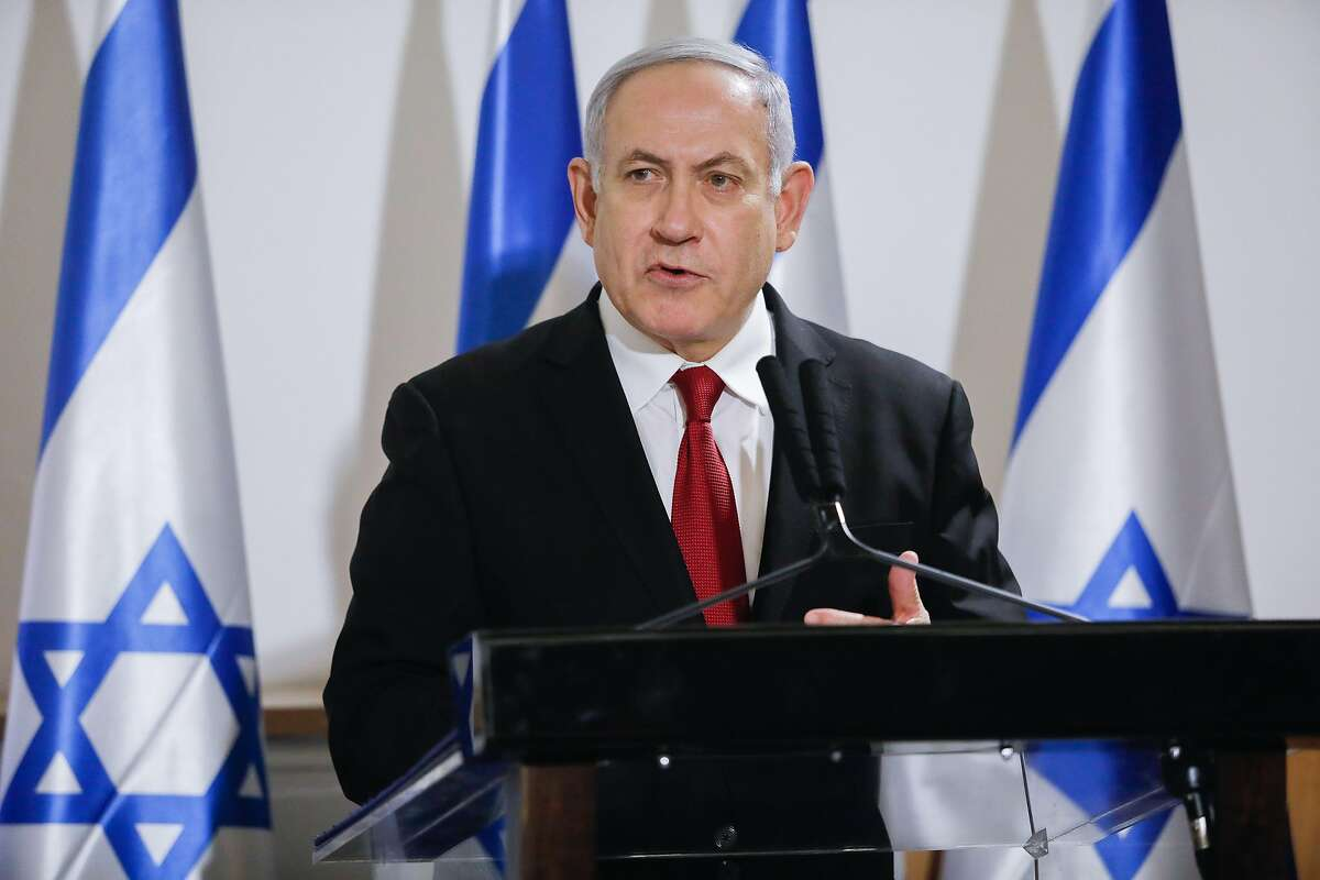 Israeli Prime Minister Benjamin Netanyahu attends a press conference on Nov. 21, 2019 in Tel Aviv, Israel. On Saturday Netanyahu proposed he and his main challenger have a runoff vote. (Gideon Markowicz/Xinhua/Zuma Press/TNS)