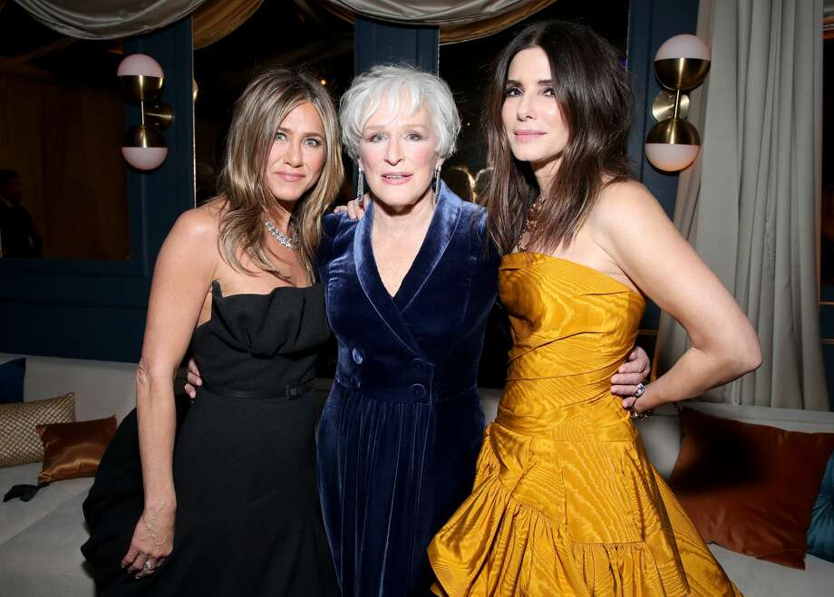 (L-R) Jennifer Aniston, Glenn Close and Sandra Bullock attend the Netflix 2020 Golden Globes After Party at The Beverly Hilton Hotel on January 05, 2020 in Beverly Hills, California. (Photo by Rich Fury/Getty Images) Photo: Rich Fury/Getty Images