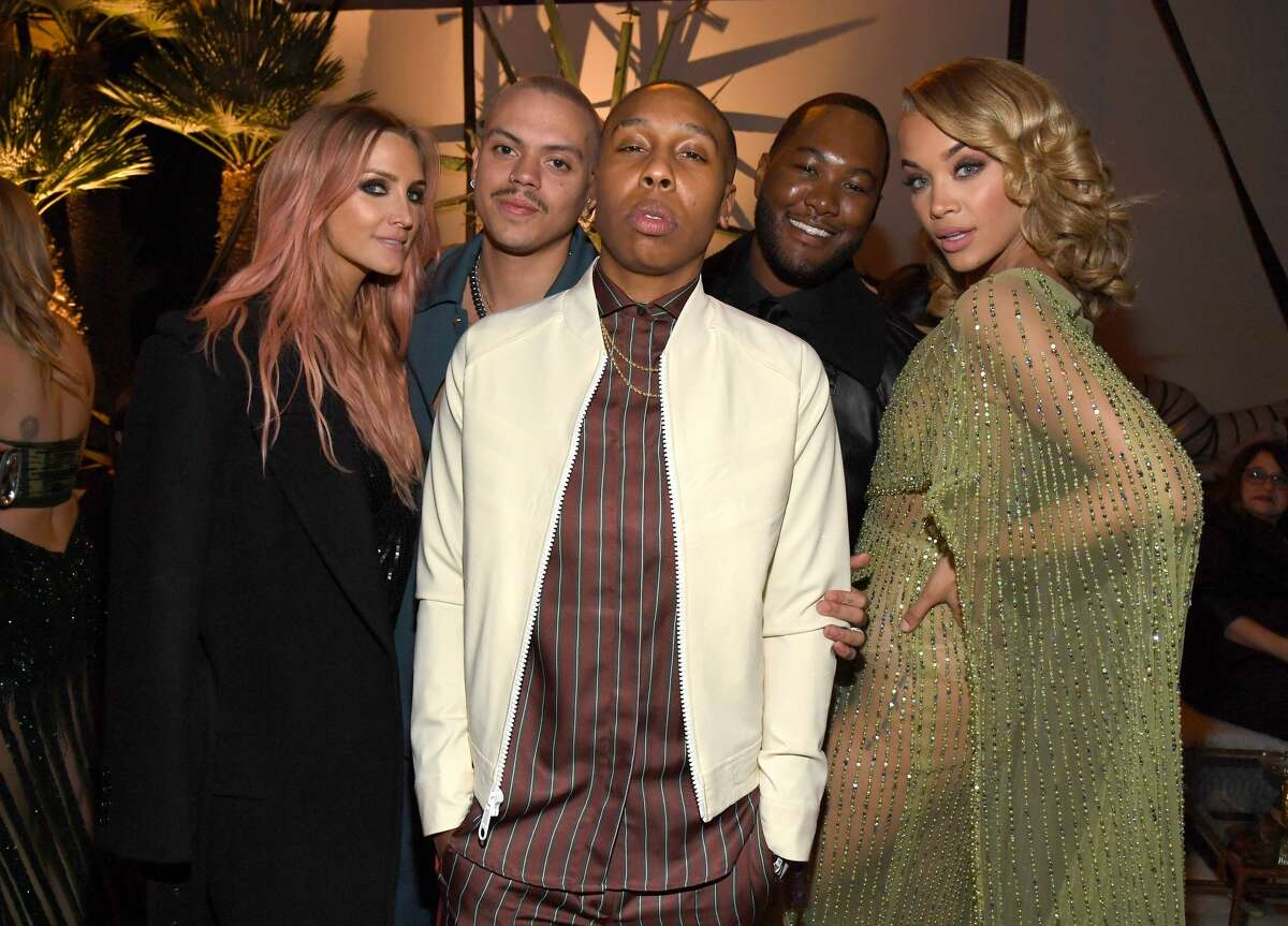 (L-R) Ashlee Simpson, Evan Ross, Lena Waithe, guest and Jasmine Sanders attends The 2020 InStyle And Warner Bros. 77th Annual Golden Globe Awards Post-Party at The Beverly Hilton Hotel on January 05, 2020 in Beverly Hills, California. (Photo by Kevin Mazur/Getty Images for InStyle)