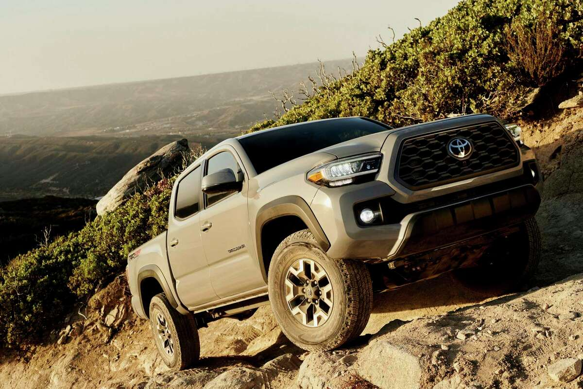 This is the Toyota Tacoma TRD Off-Road, which has upgrades to enhance its abilities in varying terrain.