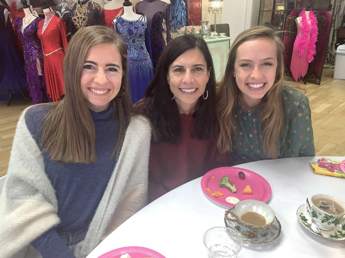 Chi Omega: Emily Gex, from left, Michelle Gex and Ellie Gex