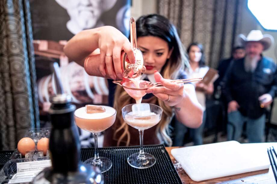 Garrison Brothers Distillery is looking for best bartender in Texas with their second Bourbon Brawl in May. Last year, five people competed in the finals in Austin, including local bartender Riamond Cordero, who finished second in 2019. Photo: Courtesy