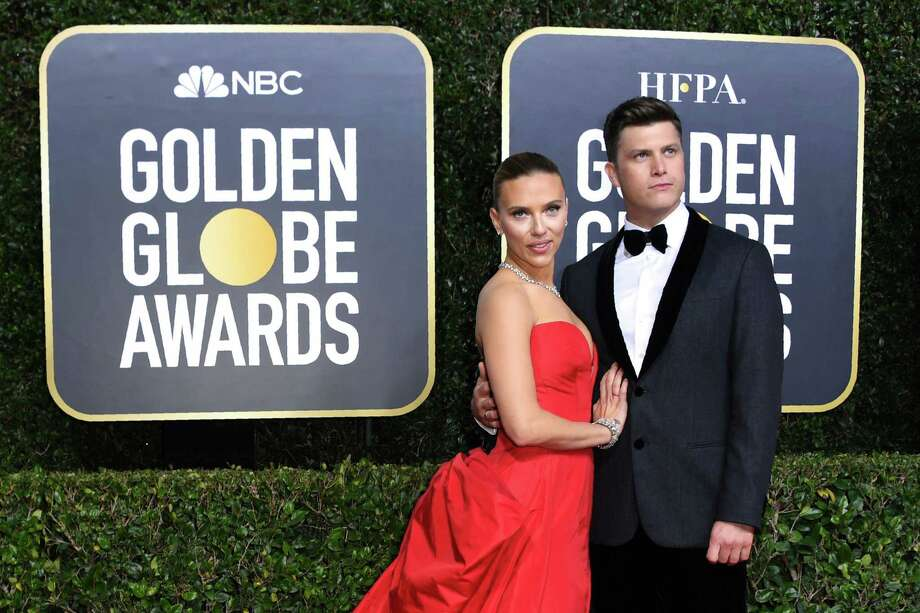 Scarlett Johansson and fiance Colin Jost Photo: VALERIE MACON /AFP Via Getty Images / AFP or licensors