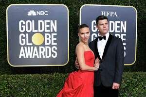 Scarlett Johansson and fiance Colin Jost