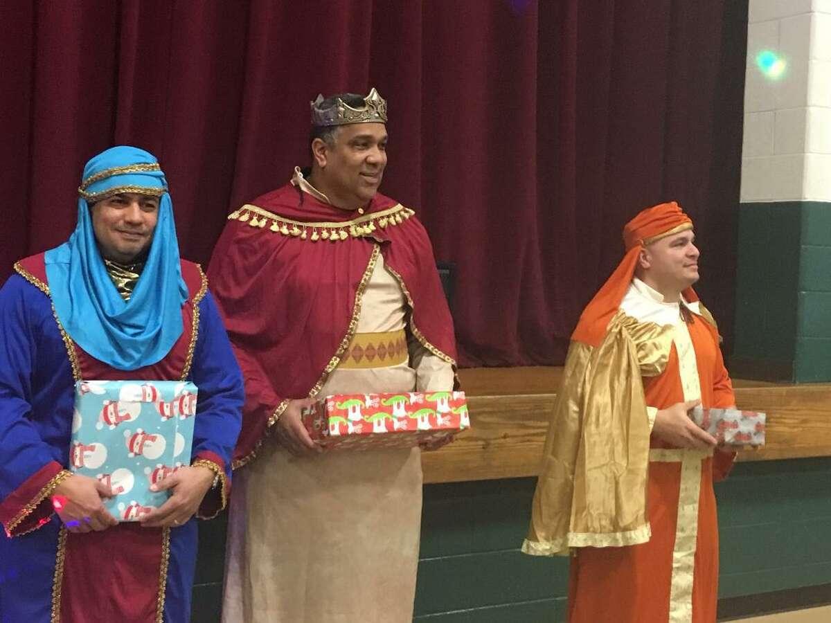 The Three Kings come to Marin School in Bridgeport. Jan 6, 2020