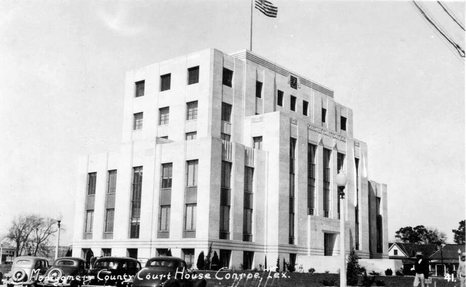Montgomery County Courthouse in Conroe circa 1941. Even 183 years after the county's founding, there's still dispute today over where the county's name came from. Photo: Heritage Museum Of Montgomery County / Heritage Museum Of Montgomery County / handout
