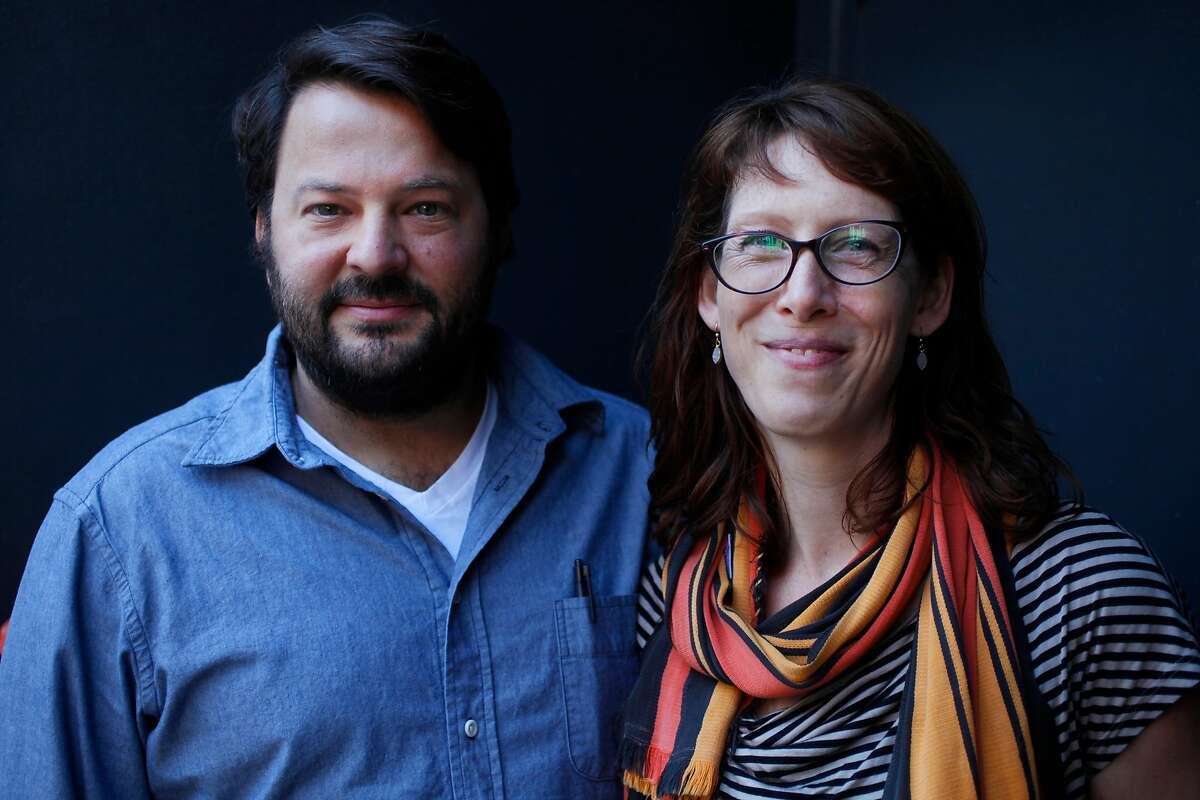 Chefs Stuart Brioza and Nicole Krasinski pictured outside of their State Bird Provisions restaurant Nov. 15, 2014 in San Francisco, Calif. Chefs Stuart Brioza and Nicole Krasinski currently own the wildly popular restaurant, State Bird Provisions, and will be opening up their second place, The Progess, in December right next door.