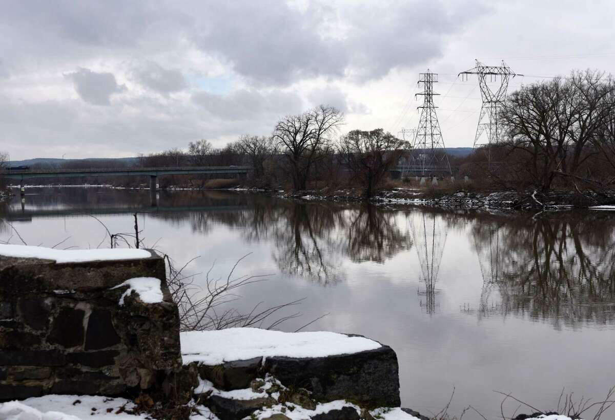 View of the Mohawk River looking west from Washington Avenue on Monday, Jan. 6, 2020, in the Stockade neighborhood of Schenectady, N.Y. The state on Monday proposed a massive overhaul of the Erie Canal that would see ice breakers put to use to break up the ice that frequently clogs the river. (Will Waldron/Times Union)