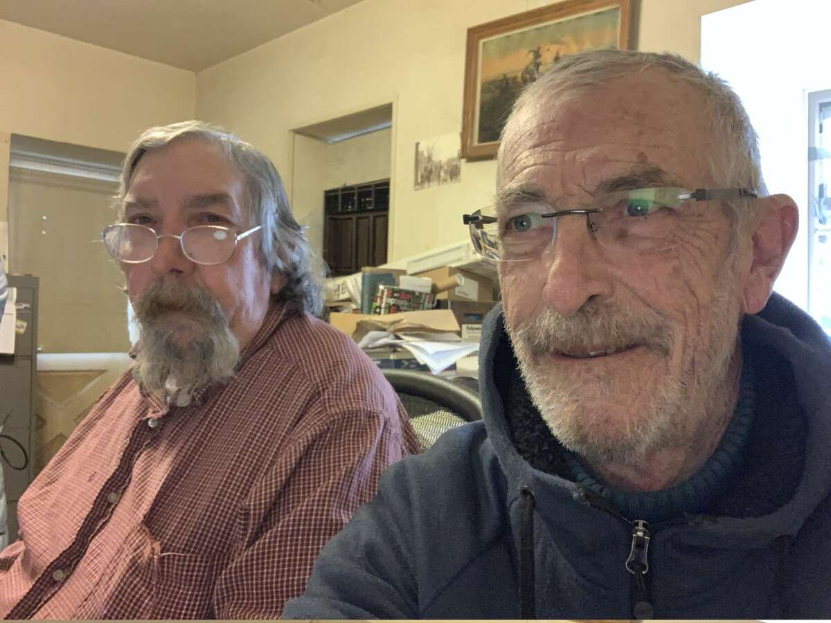 Don Russell (left) is stepping down as publisher and editor of the Mountain Messenger. Carl Butz (right) is taking over on Jan. 20, 2019.  Established in 1853, the paper covering Sierra and Plumas counties is the oldest weekly newspaper in California.