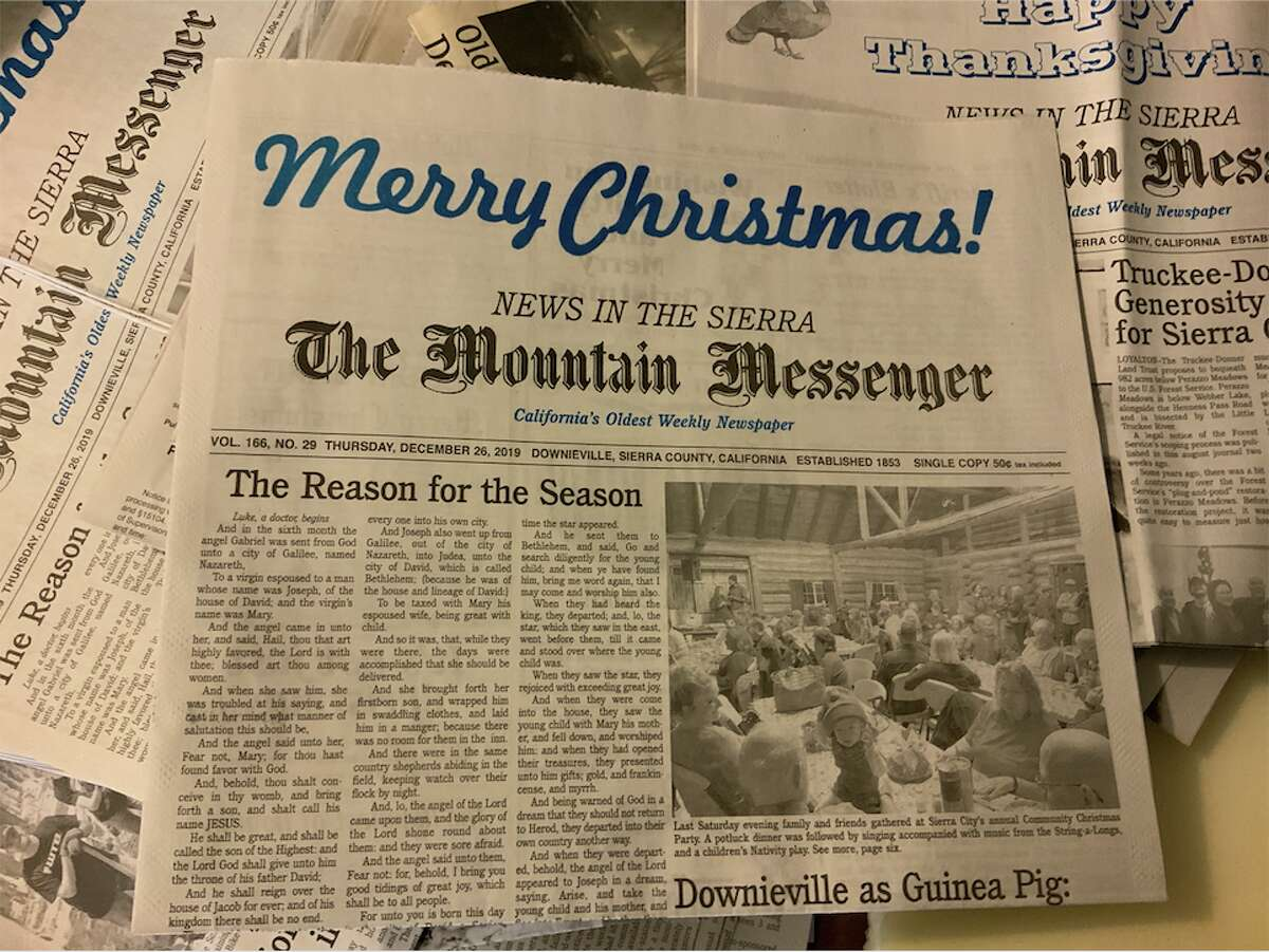 Established in 1853, the Mountain Messenger covering Sierra and Plumas counties is the oldest weekly newspaper in California.