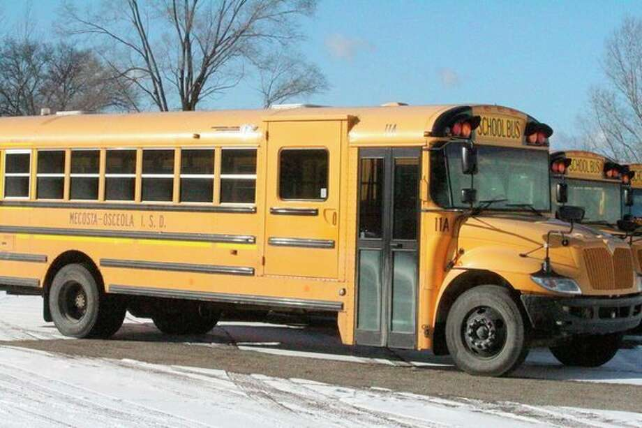 On their first day back from winter break, schools in the MOISD had a three-hour delay due to poor road conditions. Superintendents said having these delays allow roads to be salted and sanded in time for students to travel to school. (Herald Review photo/Catherine Sweeney)