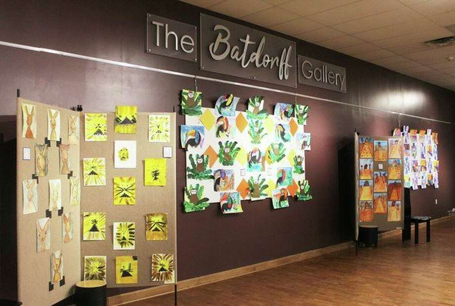 """""""Joyful Art"""" is a new exhibit set up in the Batdorff and Chemical Bank galleries in Artworks. It has been a yearlong collaboration between the organization and Hope Network artists. (Pioneer photo/Taylor Fussman)"""